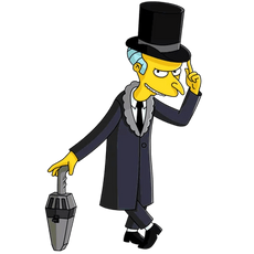 The Simpsons Mr. Burns Vintage Gentleman Sticker