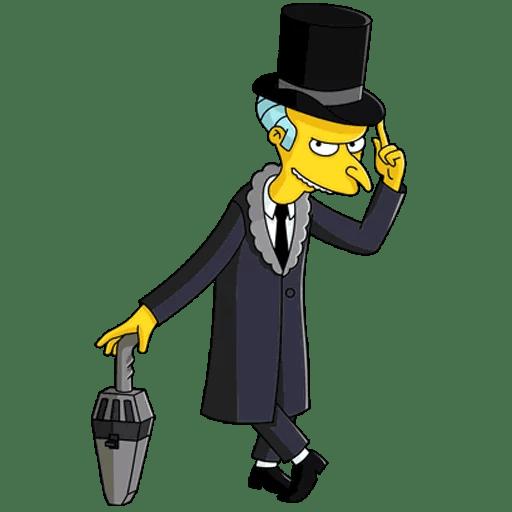 The Simpsons Mr. Burns Vintage Gentleman Sticker