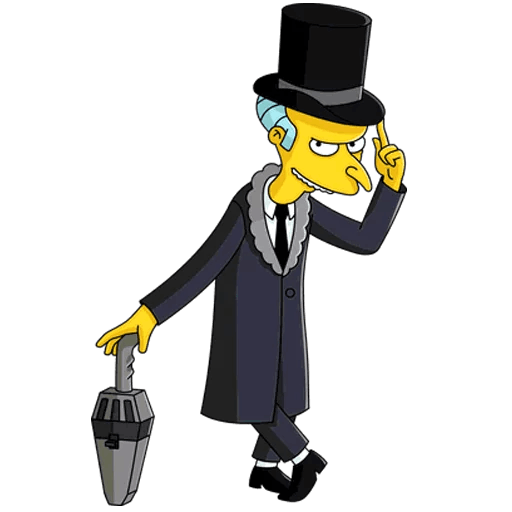 The Simpsons Mr. Burns Vintage Gentleman