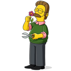 The Simpsons Ned Flanders Gardening
