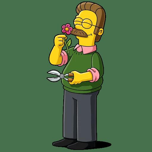 The Simpsons Ned Flanders Gardening