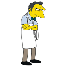 The Simpsons Moe Szyslak at Work