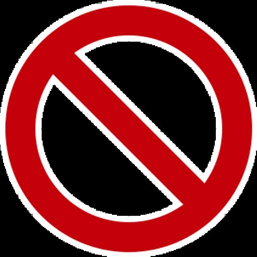 No Symbol Sticker