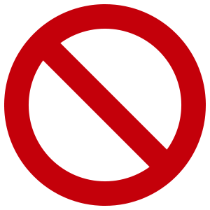 No Entry Sticker