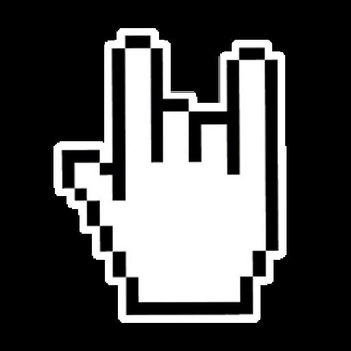 Rock Hand for Web Sticker