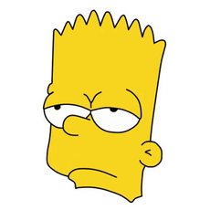 Bart Simpson Unamused