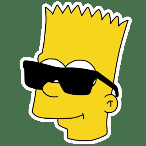 Bart Simpson in Black Glasses