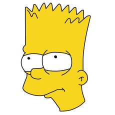 Bart Simpson Unhappy