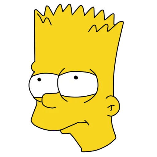 Bart Simpson Unhappy