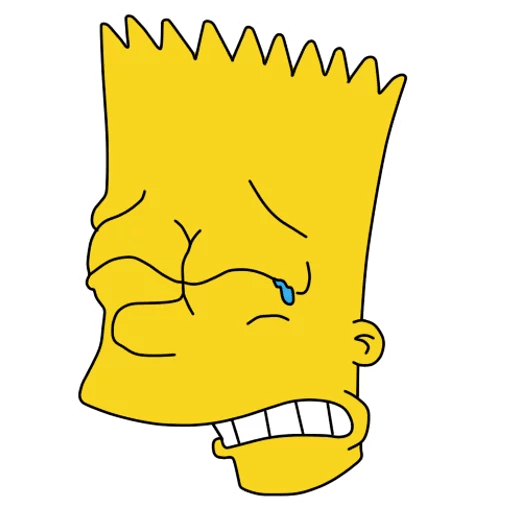 Bart Simpson Crying