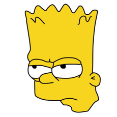 Bart Simpson Angry Face