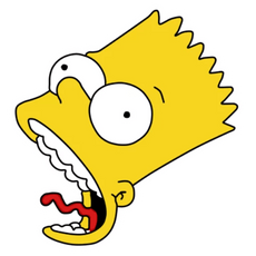 Bart Simpson Strangled Face