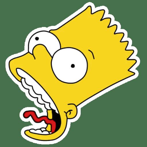 Bart Simpson Strangled Face