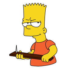 Bart Simpson With Spiked Club