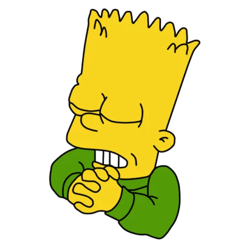 Bart Simpson Praying Sticker