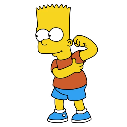 Bart Simpson Armpit Fart Sticker