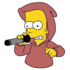 Bart Simpson Rap Battle Sticker