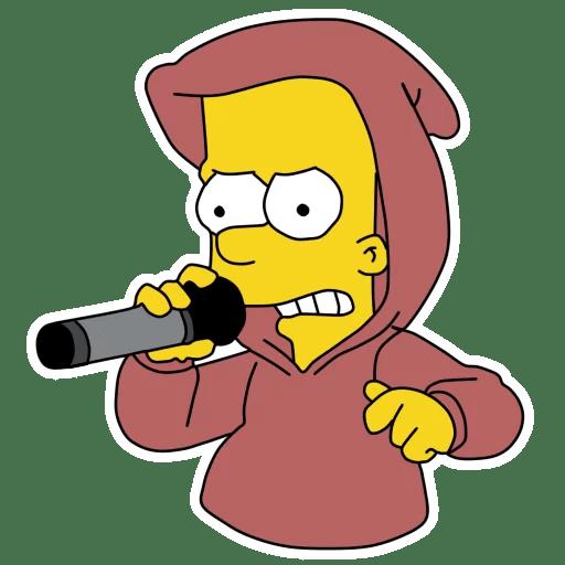 Bart Simpson Rap Battle Sticker