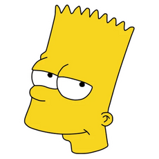 Bart Simpson Smiling Sticker