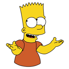 Bart Simpson I Dunno Sticker