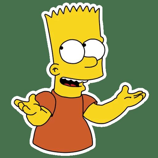Bart Simpson I Dunno Sticker