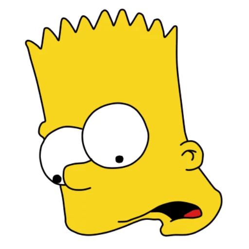 Bart Simpson Open Mouth Surprised Sticker