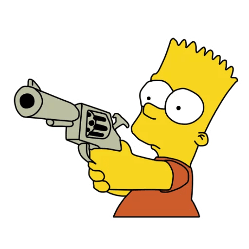 Bart Simpson with a Gun