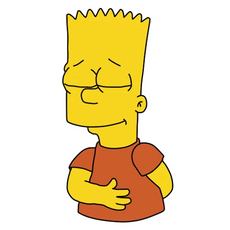 Bart Simpson Bows Sticker