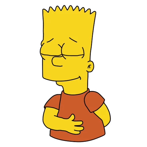 Bart Simpson Bows Sticker