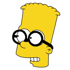 Bart Simpson Nerd Glasses Sticker