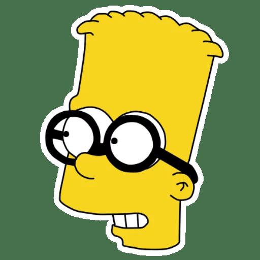 Bart Simpson Nerd Glasses Sticker