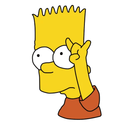 Bart Simpson Rock Sticker
