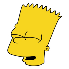 Bart Simpson Happy Sticker