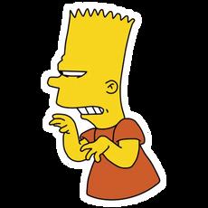 Insidious Bart Simpson Sticker