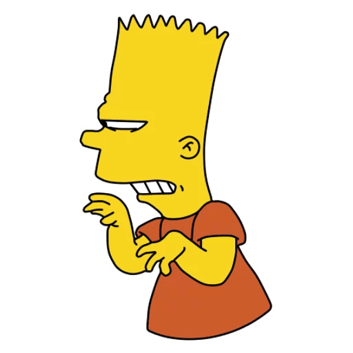 Insidious Bart Simpson Sticker