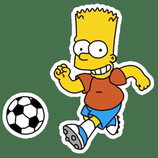 Bart Simpson Soccer Ball Sticker