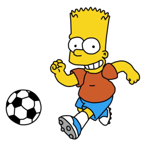 Bart Simpson Soccer Ball Sticker