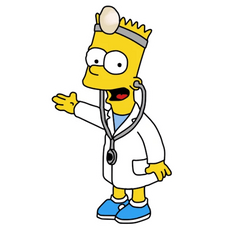 Bart Simpson as a Doctor