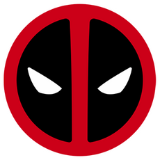 Deadpool Marvel logo Sticker