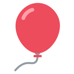 Red Ballon Sticker