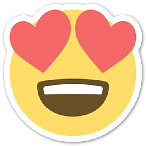 Emoji Heart Eyes Face Sticker