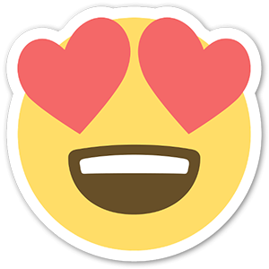 Emoji Heart Eyes Face Sticker
