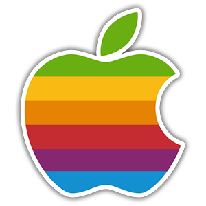 Apple Color Logo Sticker