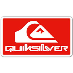 Quiksilver Red Logo Sticker