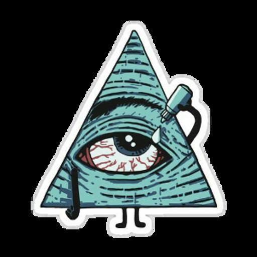 When Your Third Eye Has Seen Too Much Bullshit sticker