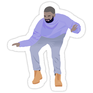 Dancing Drake Hotline Bling Sticker