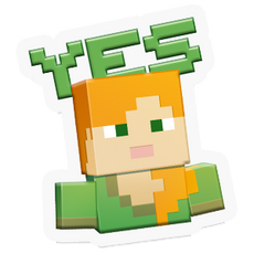 Minecraft girl Yes! sticker