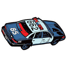 Police Car 662 Sticker