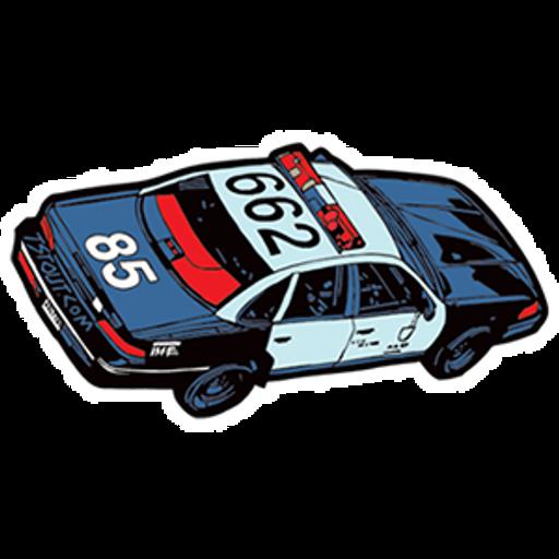 Police Car 662 Sticker