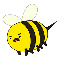 Adventure Time Alarmed Bee Sticker